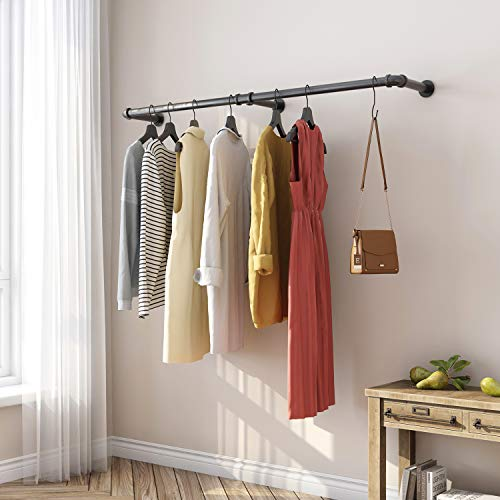 Greenstell Industrial Pipe Style Garment Rack, Foldable Wall Hanger for Bedroom, Living room, Kitchen, Three Pedestal Three-way Hangers steampunk buy now online