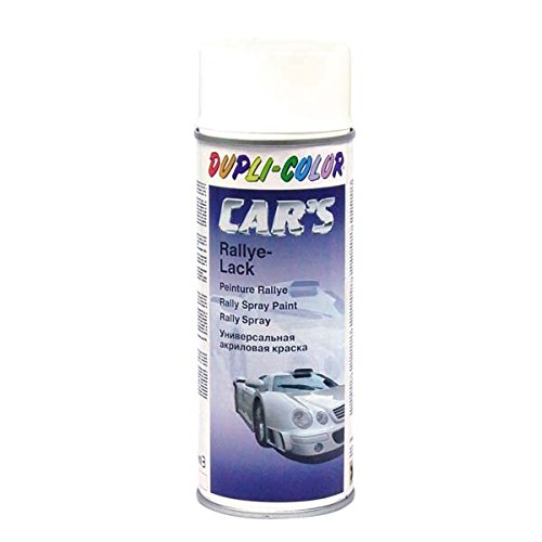 Dupli Color 385896 Spray de Pintura para Coches, Color Blanco Brillante, 400 ml