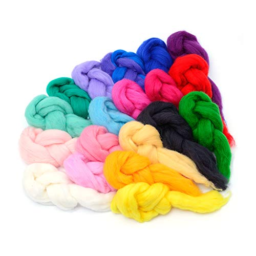 Glaciart One Spinning Fiber Merino Wool - Super Soft 20...
