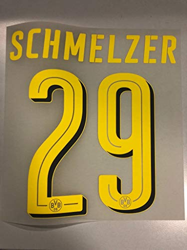 Flock Original BVB Borussia Dortmund Trikot 20cm - SCHMELZER 29