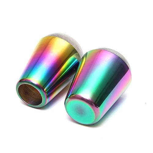 Stampino per unghie colorato con manico Testa olografica lucida Stampante in silicone trasparente per stampi per unghie