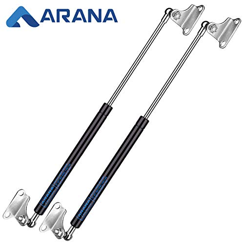 17 inch 100 LB Gas Prop Struts Shocks, 17' 445 N Lift-Support Gas Springs, 2Pcs Set with L-type Mounting Brackets for Heavy Duty Toolbox Storage Box RV Bed TV Cabinet Floor Hatch DIY Builds. ARANA