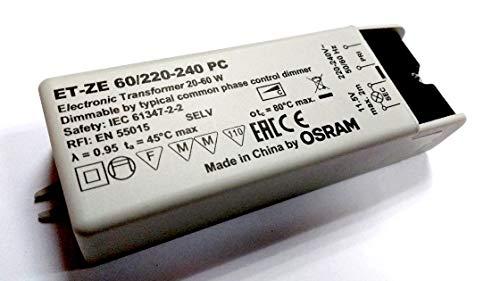 Trasformatore TBT Osram elettronico 220-240V a 12V 20A 60W per lampadine LED o alogene 12V AC TBT