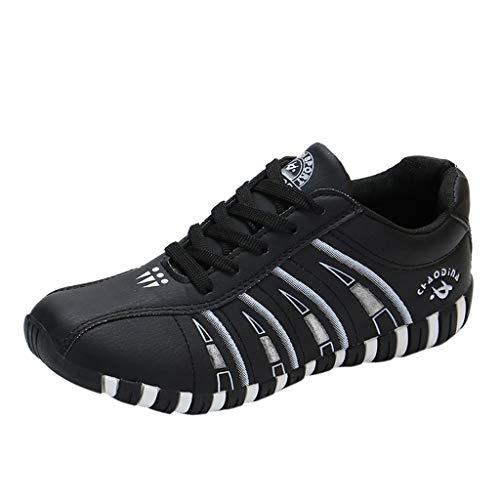 DOLDOA Sommerturnschuhe,Art- und Weisedamen-Wilde Breathable Bequeme Flache beiläufige Schuhe, die Schuhe wandern (39 EU, Schwarz)