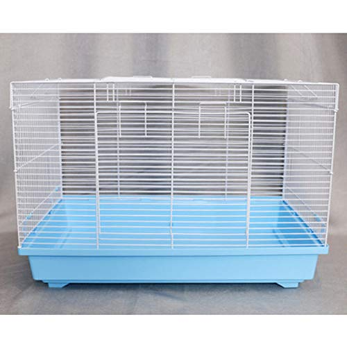 CSDY-Cage for Hamsters, Mice, Small Rodents Hamster Cage, Mouse House, Accessories Included, Plastic Frame and Bottom, 60 X 36 X 38 cm,Blue,A