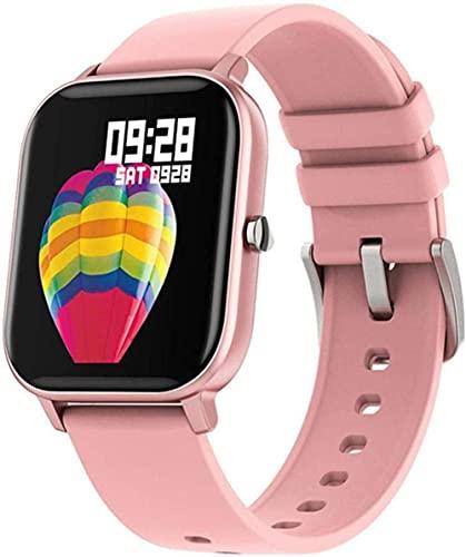 Reloj inteligente para hombre con monitor de actividad física con tacto completo, monitor de frecuencia cardíaca, reloj inteligente para Xiaomi IOS Phone GTS (color rosa, rosa