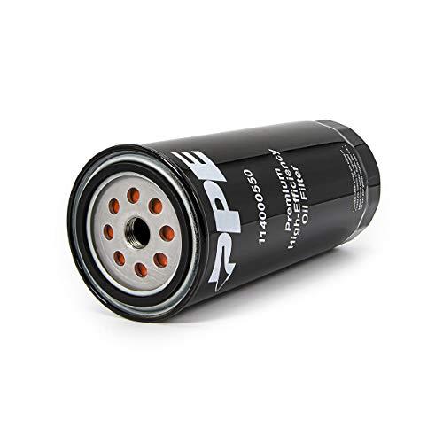 PPE - 5 Micron Premium High-Efficiency Oil Filter 114000550 Compatible with 2001-2019 Chevy/GMC 6.6 LB7 LLY LBZ LMM LML L5P Duramax Diesel (Classic Black)