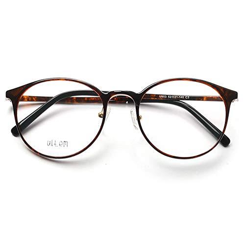 VEVESMUNDO Brillen ohne sehstärke Damen Herren Brillengestelle Brillenfassung Große Retro Rund Vintage TR90 Fakebrillen Streberbrille Nerdbrille Pantobrille mit Brillenetui (Tortoiseshell)