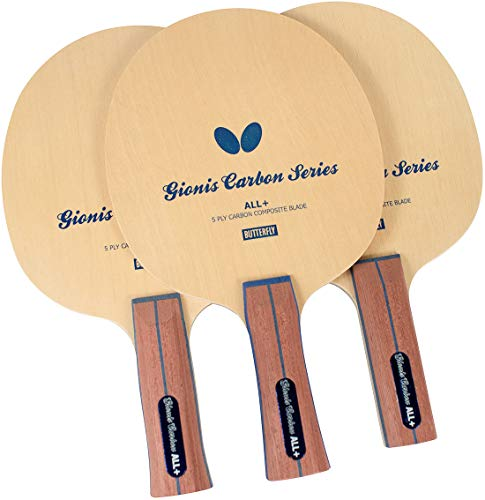 ping pong paddle butterflies 2 Gionis Carbon ALL+ Blade - Butterfly Table Tennis Blade - 3W + 2 Carbon Ply Blade - Gionis Carbon ALL+ Blade - Professional Table Tennis Blade - comes in the AN, FL, and ST Handle Type