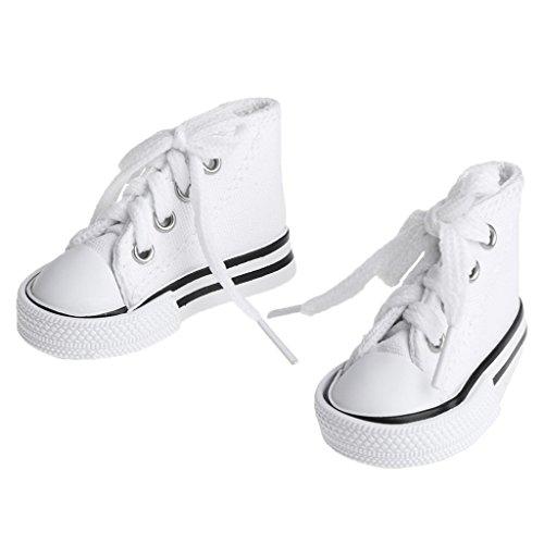 Puppenschuhe 1/4 Zubehör Canvas Fashion Sommer Spielzeug Mini Sneakers Denim Boots rose