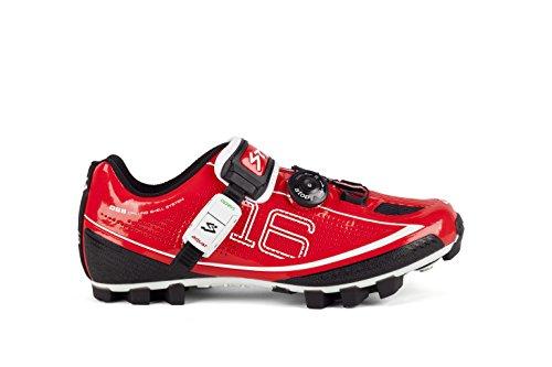 Spiuk 16 MTB - Zapatillas unisex, color rojo, talla 49