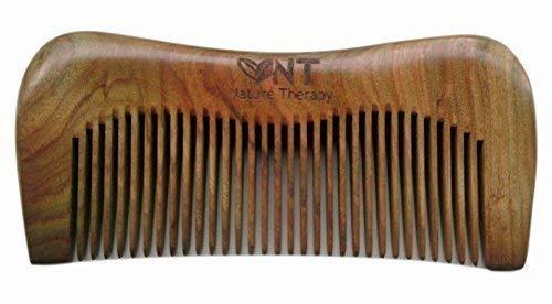Vendeur Anglais ! 100% Fait Main Vert Santal M Forme Peigne, Sandale Bois Peigne Anti Statique 12.3cm - vert, No Gift Bag