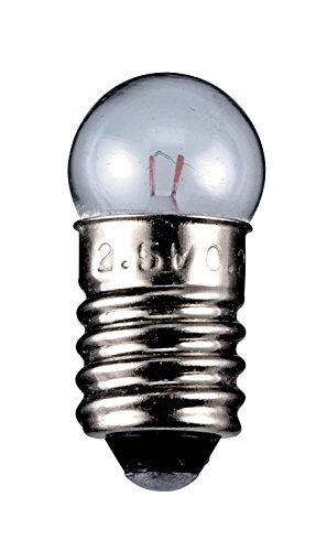 Goobay 10x Glühbirne Torch Lamp Globular Sockel E102,35W 6V (DC) 400mA