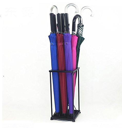 ZLsj Porte parapluies, pour parapluies cannes ou bâtons , Porte parapluies avec un plateau et crochets ( Couleur : Noir , taille : 20*20*41cm )