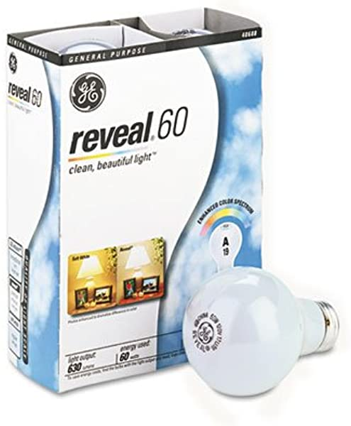 Ge 48688 Reveal Soft White 60 Watts A19 4 Pack