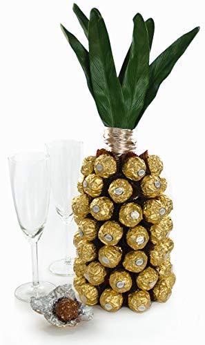 ANANAS Geschenkset aus Rotkäppchen Sekt und Ferrero Rocher - Hochzeitsgeschenk (79,93€/l)