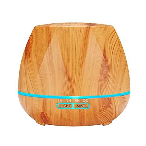 Difusor de Aceite Esencial Silencioso Control Remoto Humidificador Ultrasónico con Luces LED Cambiantes de 7 Colores Lámpara de Fragancia,Wood