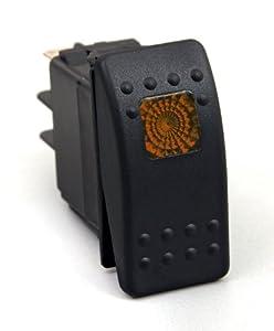 Daystar KU80013 20 Amp Amber Light Rocker Switch Kit - image