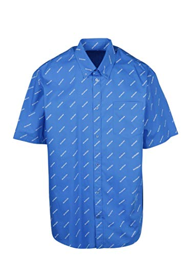 Luxury Fashion | Balenciaga Heren 534332TBL967560 Donkerblauw Katoen Overhemden | Lente-zomer 20