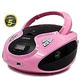 Lauson Lecteur CD | Radio Portable | USB | Radio Stéréo CD Lecteur MP3 pour Enfants | Prise Entrée AUX et Appareils Auditifs -...