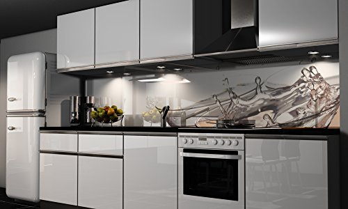 More Design Küchenrückwand-Folie selbstklebend | Sekt-Gläser | Klebefolie in verschiedenen Größen | Fliesenspiegel | Dekofolie | Spritzschutz | Küche | Möbel-Folie