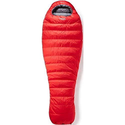 RAB Alpine Pro 600 Schlafsack Herren Fiery red/Steel Ausführung Right Zipper 2020 Quechua Schlafsack