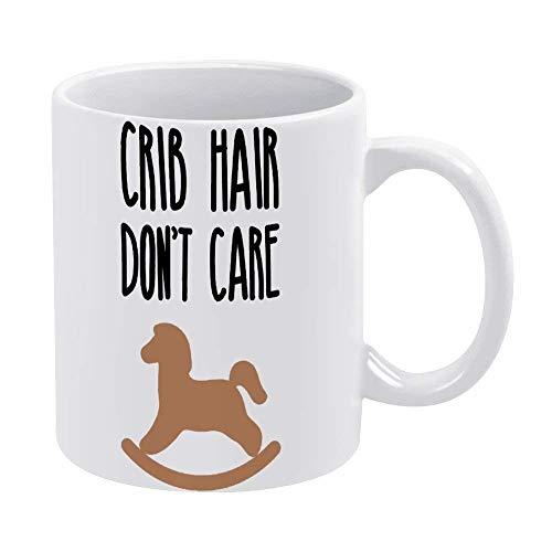 La mejor taza de café divertida Tazas de té y taza de café de 11 oz y 15 oz El pelo de la cuna no se preocupa con el patrón de caballo de Troya bronceado Humor novedoso diciendo regalo para niñas, esp