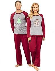 404a0a3a21 Ekouaer Holiday Family Matching Christmas Pj Set Parent Child Family  Loungewear