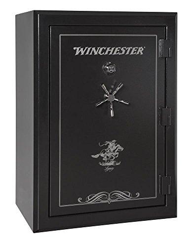 Winchester Safes Legacy 44, 51 Gun Safe, 2.5 Hour Fire Rating, U.L. Listed Mechanical Lock, Black,