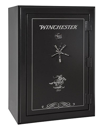 Winchester Safes Legacy 44, 51 Gun Safe, 2.5 Hour Fire Rating, U.L. Listed Mechanical Lock, Black,