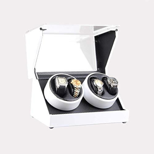 Caja de reloj enrollador de reloj Cajas de enrollador de reloj Mecánico enrollador de caja de reloj enrollador eléctrico Caja de reloj giratoria enrollador de reloj (color: blanco), caja de reloj CCAN