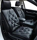 Big Ant Sitzbezüge Auto Auto Sitzauflagen Sitzkissen Auto weiche Sitzauflagen Sitzbezug Passt für Meisten Fahrzueg Schwarz (1 Stück)