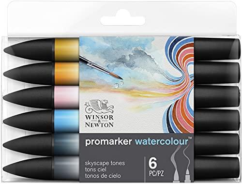 Winsor & Newton ProMarker Watercolour - Tonalità del Cielo - Set di 6 Pennarelli