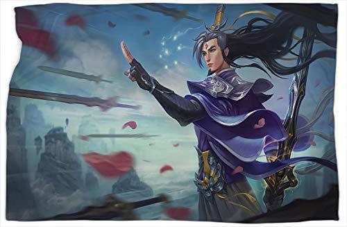Eternal Sword Master Yi League Legends - Manta para sofá y dormitorio, diseño de leyendas de Yi League