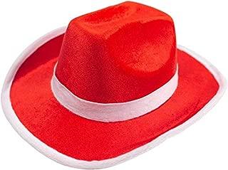 DomeStar Red Cowboy Hat, Cowgirl Hat Western Hat Jessie Hat Woody Hat Jazz Hats Christmas Hat Santa Hat