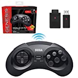 Sega Genesis Mini 6 Button Wireless Controller Black