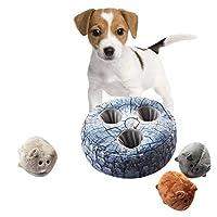 犬のおもちゃ、犬のインタラクティブなおもちゃ-創造的な新しいペットのボーカルぬいぐるみ犬の咬傷耐性臼歯トレーニングインタラクティブ漫画の人形