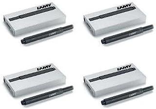 凌美黑色 T10 鋼筆墨盒 4 包 (LAM-T10-BLK4PAC)