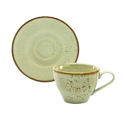 Kaffeetasse Teetasse Cappuccinotasse + Untertasse NATURE COLLECTION | Steinzeug | Earth - Beige | 200 ml