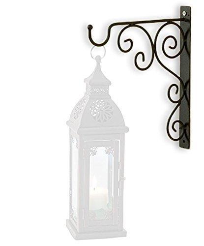 HausderHerzen Wandhalter Wandhalterung Metall für eine Laterne oder Windlicht (ohne Laterne)