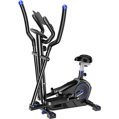 ZIZISHUANG 2-en-1 elíptica de la Bicicleta estática-Fitness Cardio Pérdida de Peso de la máquina Entrenamiento con Asiento + Sensores del Pulso del corazón, pequeño, Robusto, Compacto ZI916