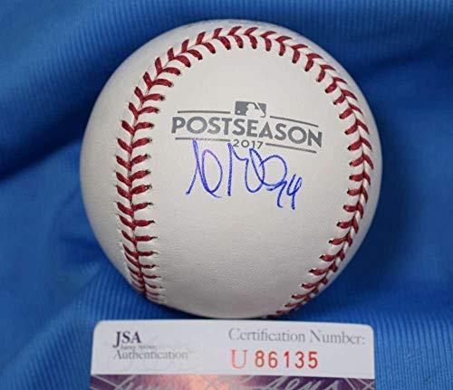 Andrew Miller Jsa Coa Signed 2017 Post Season Baseball Autograph Authentic - Autographed Baseballs