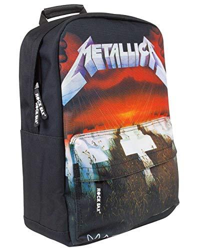Rock Sax Metallica Master of Puppets Herren-Rucksack mit Reißverschluss
