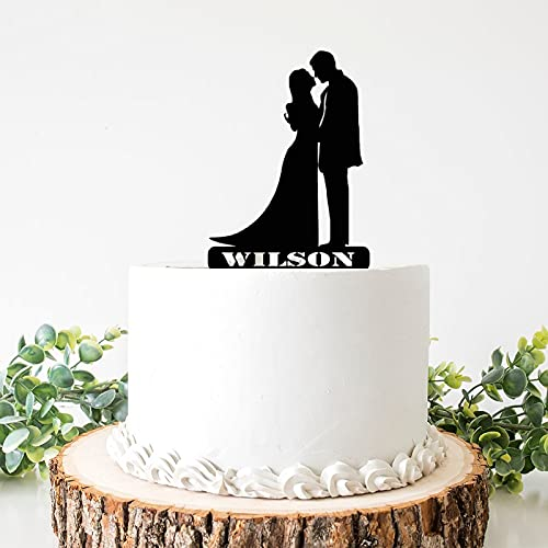 Decoración para tarta de boda de acrílico de Weding para pareja y...