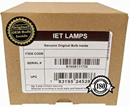 IET Replacement Lamp Assembly with Genuine Original OEM Bulb Inside for INFOCUS IN82 Projector (Power by Philips)