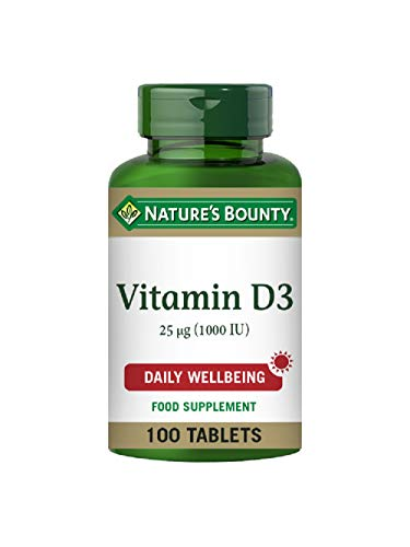 Nature's Bounty Vitamin D3 25 µg (1000 IU) Tablets - Pack of 100