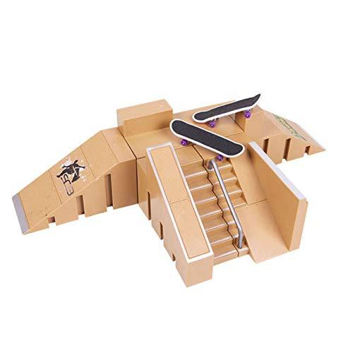 circulor-123 Skate Park Kit, Mini Rieles Diapasón Starter Kit Finger Skate Profesional...