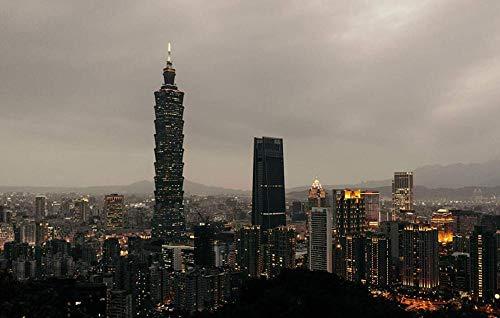Yqgdss Hermosa Vista Nocturna De Taipei Jigsaw Puzzles 300 Piezas para Adultos Juegos Educativos, Tecnología Significa Que Las Piezas Encajan Perfectamente
