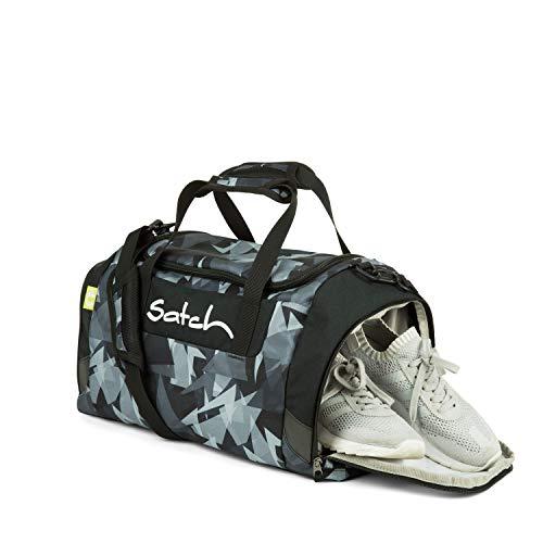 Satch Sporttasche Gravity Grey, 25l, Schuhfach, gepolsterte Schultergurte, Schwarz