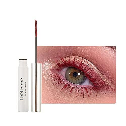 GL-Turelifes Máscara de 12 colores Máscara de fibra colorida Máscara encantadora de larga duración, pestañas gruesas y largas Maquillaje de ojos a prueba de agua y manchas (# 11 carmesí)
